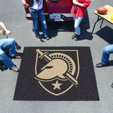 Army Black Knights Tufted Area Rug Tailgater Rug