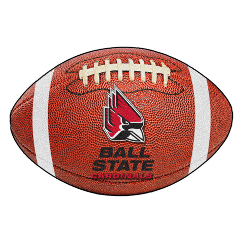 Ball State Cardinals Touchdown Football Area Rug