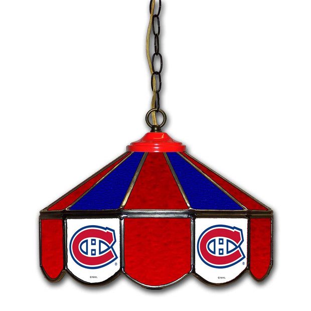 "Montreal Canadiens 14"" Stained Glass Pub Light"