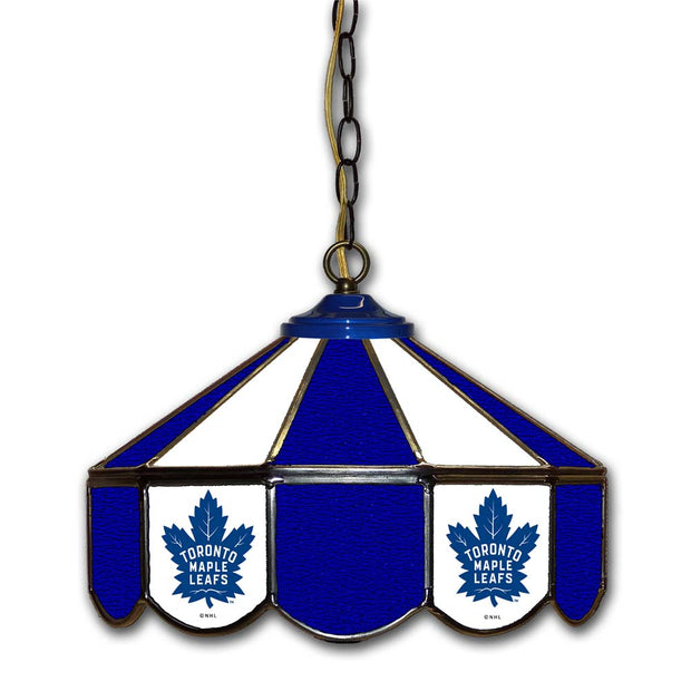 "Toronto Maple Leafs 14"" Stained Glass Pub Light"