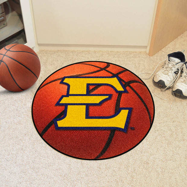 East Tennessee State Buccaneers Basketball Area Rug in Room