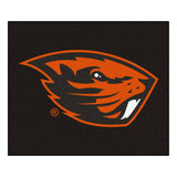 Oregon State Beavers Black Tufted Area Rug