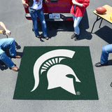 Michigan State Spartans Tufted Area Rug Tailgater Rug