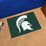 Michigan State Spartans Tufted Area Rug Starter Rug