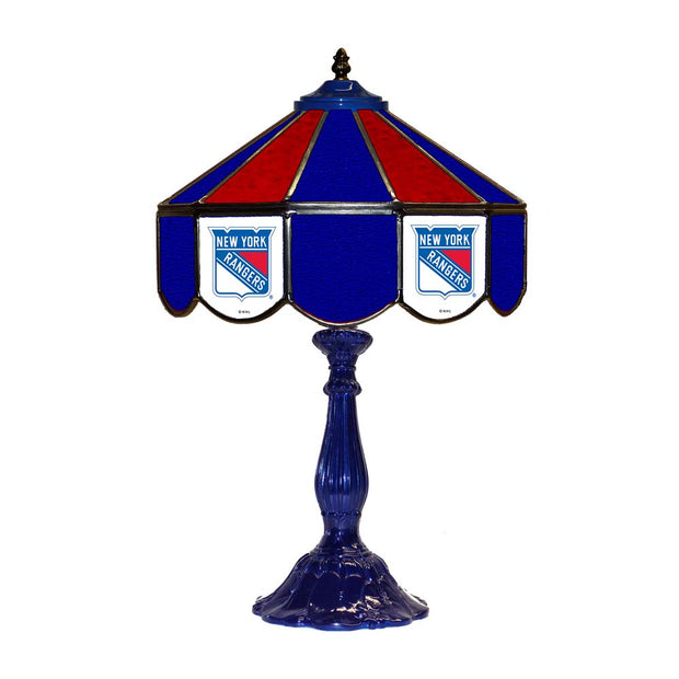 "New York Rangers 21"" Tiffany Style Table Lamp w/ Glass Base"