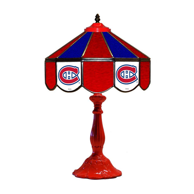 "Montreal Canadiens 21"" Tiffany Style Table Lamp w/ Glass Base"