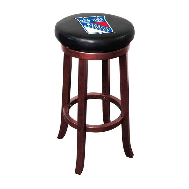 New York Rangers Wooden Game Room Stool