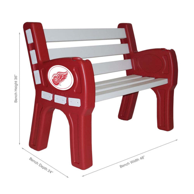 Detroit Red Wings Garden Bench