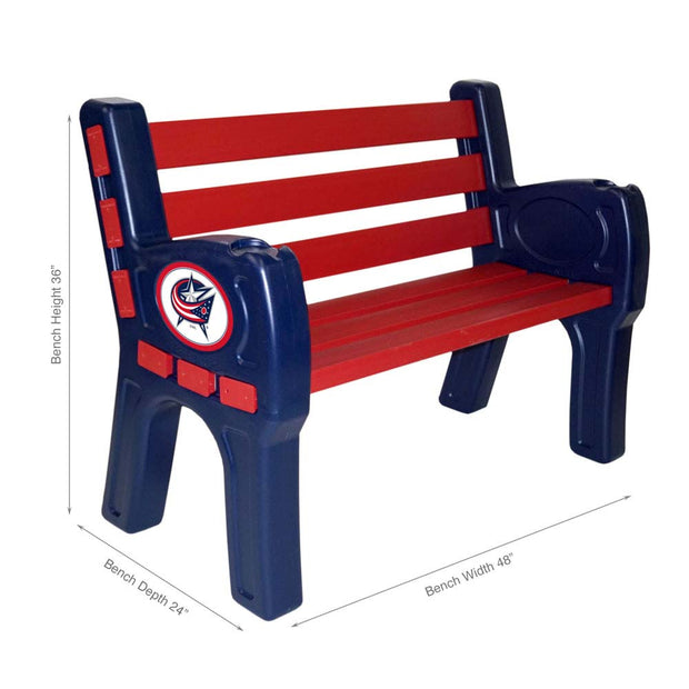 Columbus Blue Jackets Garden Bench