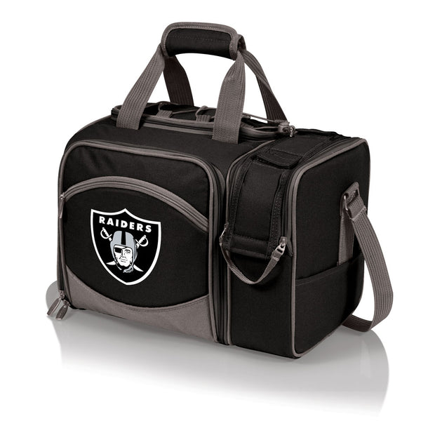 Oakland Raiders Picnic Basket, Wine Tote & Cooler in Black