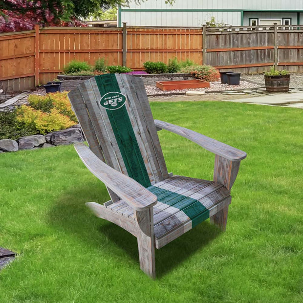 New York Jets Wooden Adirondack Patio Chair