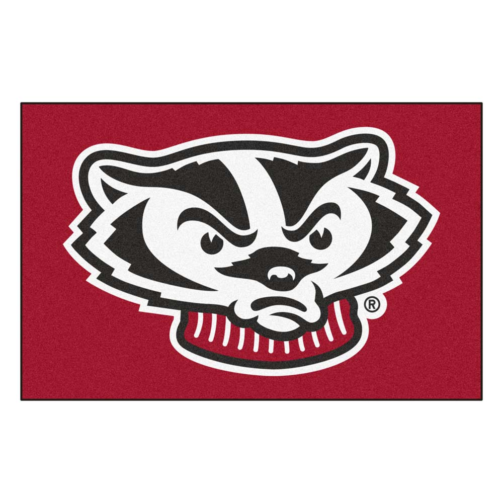 Wisconsin Badgers Red Bucky Accent Rug