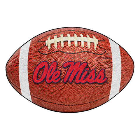 Ole Miss Rebels Touchdown Football Area Rug