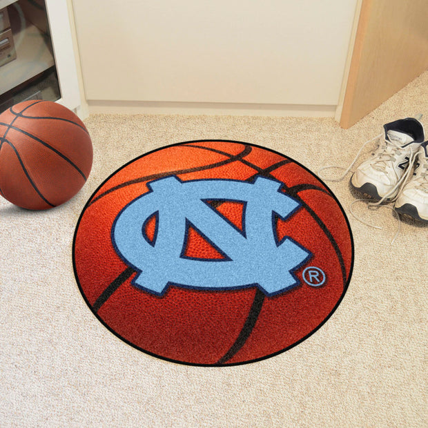 UNC Tar Heels Basketball Area Rug in Room