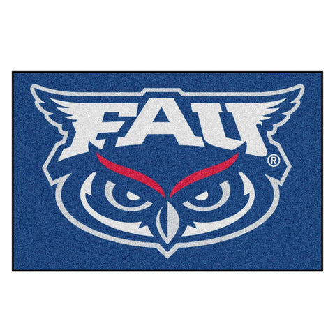 Florida Atlantic Owls Blue Tufted Area Rug