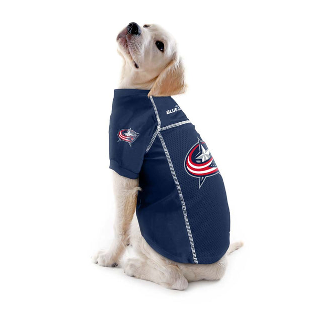 Columbus Blue Jackets Team Jersey on a Dog