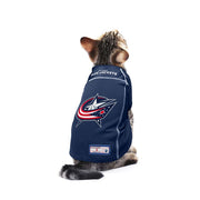 Columbus Blue Jackets Team Jersey on a Cat