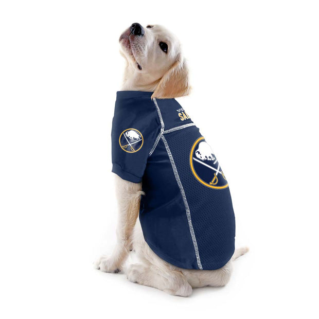 Buffalo Sabres Team Jersey on a Dog