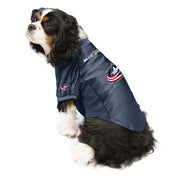 Columbus Blue Jackets Pet Stretch Jersey on a Dog