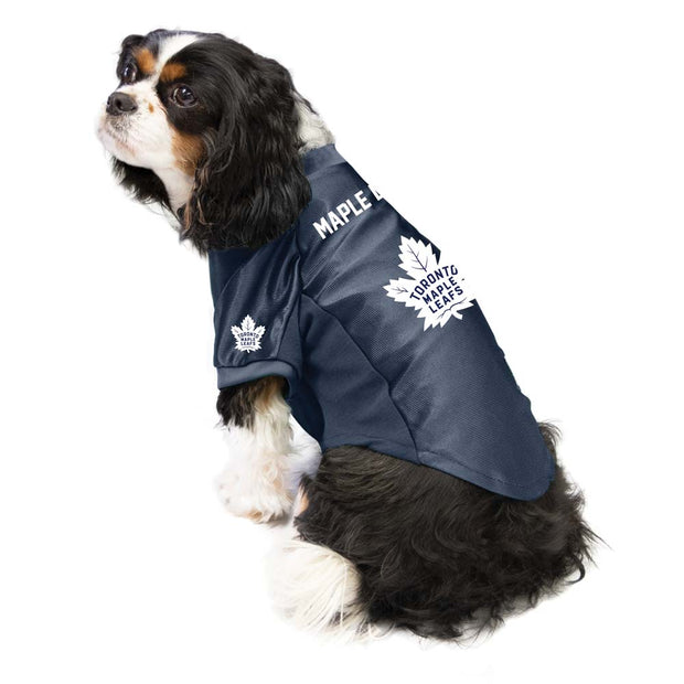 Toronto Maple Leafs Pet Stretch Jersey on a Dog