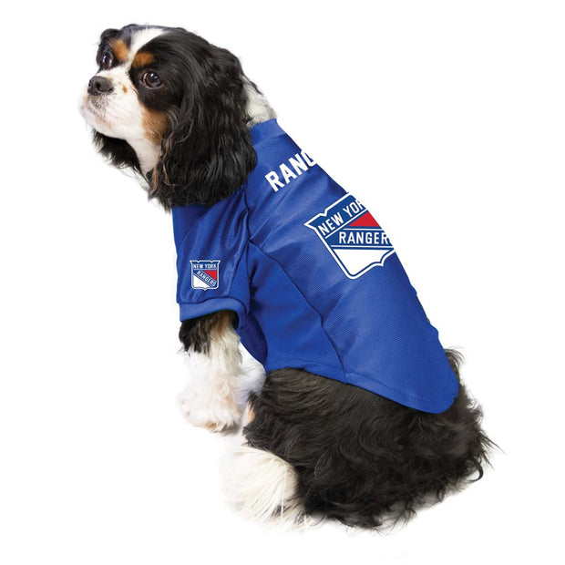 New York Rangers Pet Stretch Jersey on a Dog