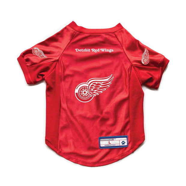Detroit Red Wings Pet Stretch Jersey Back