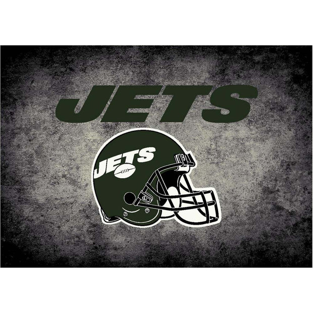 8x11 New York Jets Fade-A-Way Area Rug