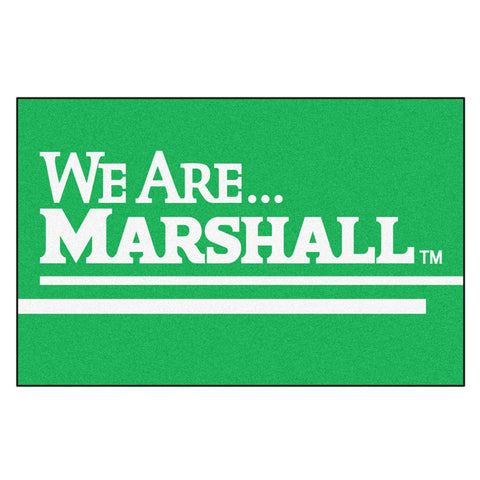 Marshall Thundering Herd Team Logo Accent Rug