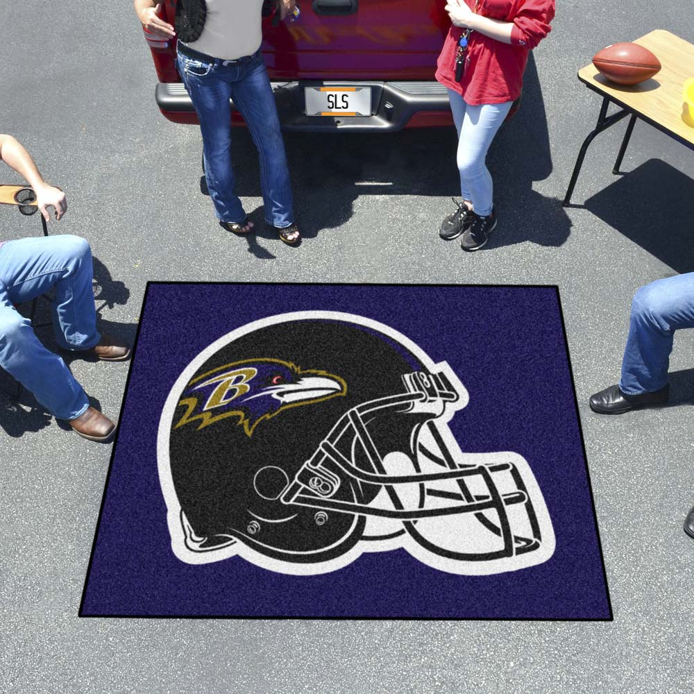 Baltimore Ravens Tufted Area Rug Tailgater Rug