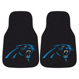 Carolina Panthers Black Carpet Floor Mats