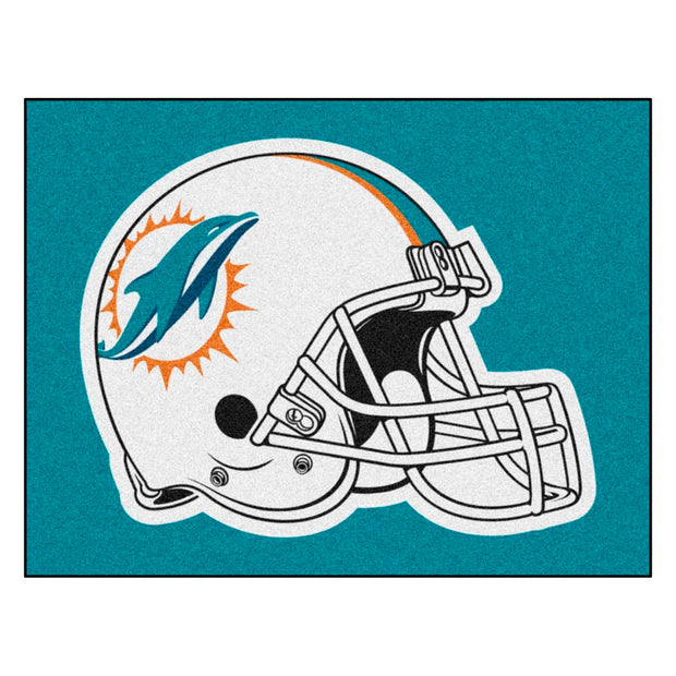 Miami Dolphins Tufted Area Rug
