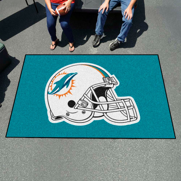Miami Dolphins Tufted Area Rug Ultimat Rug