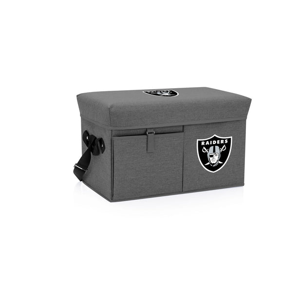 Oakland Raiders Cooler and Ottoman in Gray
