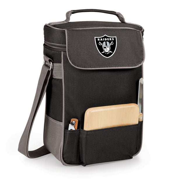 Oakland Raiders Duet Wine and Cheese Cooler in Black