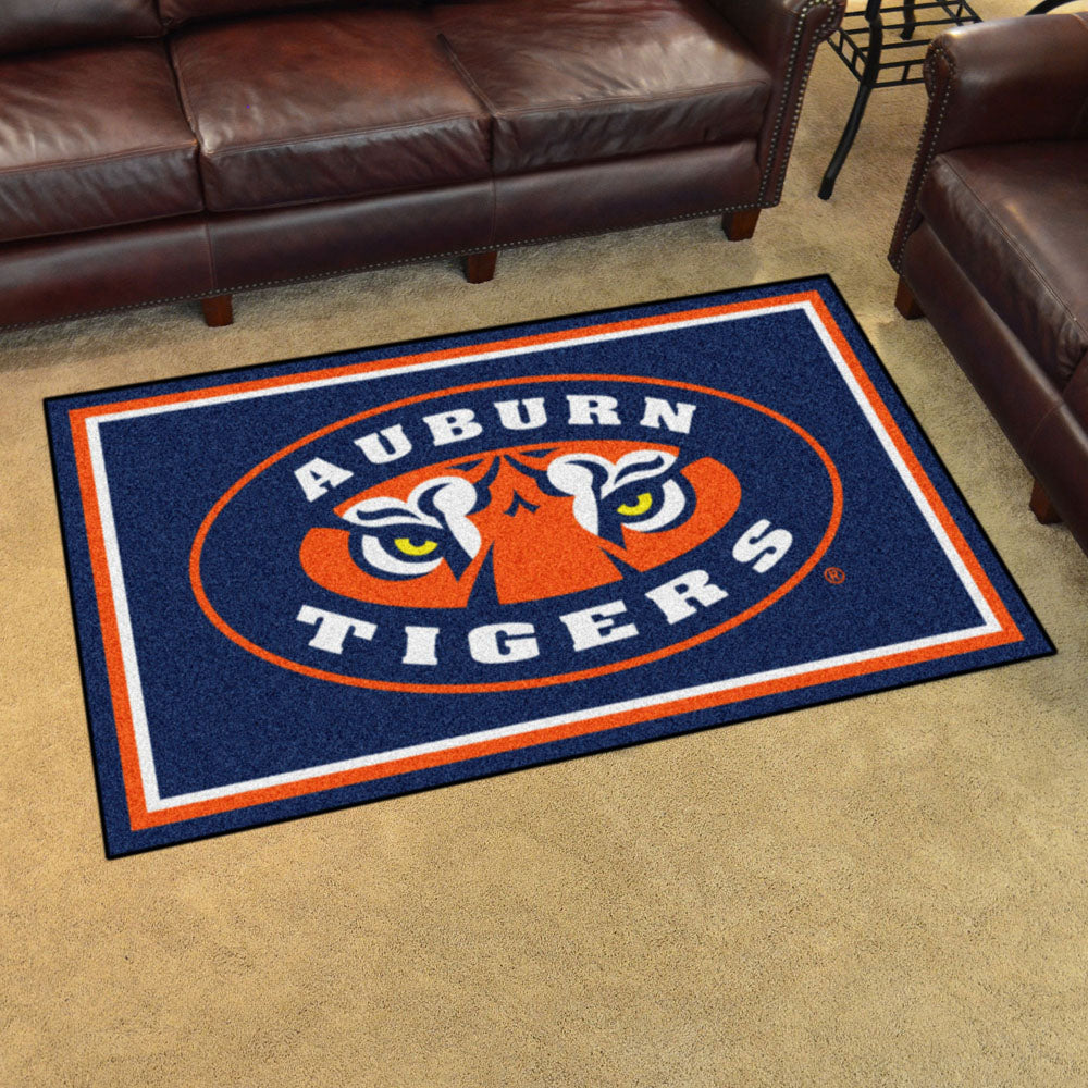 Auburn Tigers Ultra Plush Area Rug 4x6