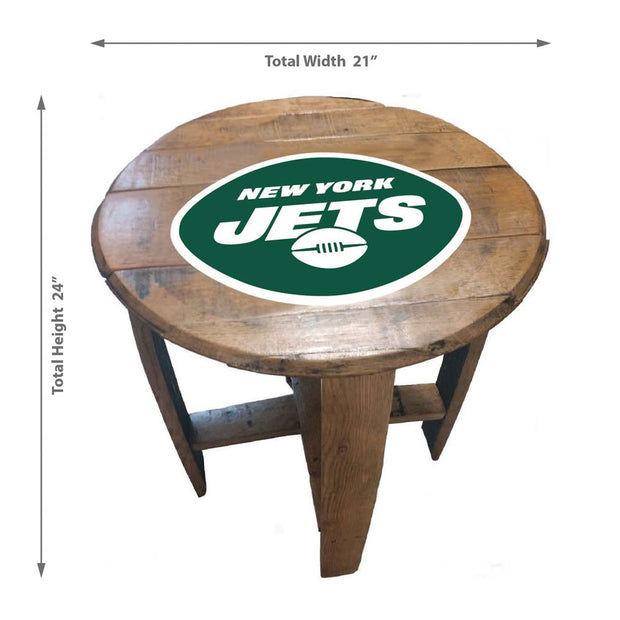 New York Jets Kentucky Whiskey Barrel Pub Table Dimensions