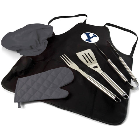 BYU Cougars BBQ Apron, Grill Tools & Tote