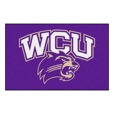 Western Carolina Catamounts Purple Tufted Area Rug