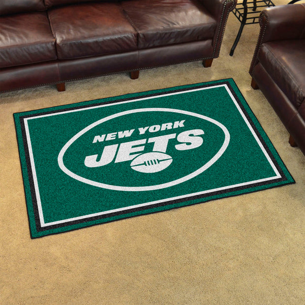 New York Jets Ultra Plush Area Rug 4x6
