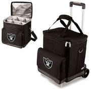 Las Vegas Raiders 6 Bottle Wine Cellar w/ Trolly