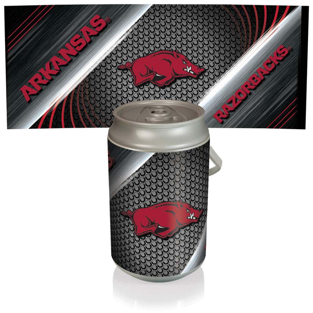 Arkansas Razorbacks Mega Can Cooler with Ball Leather Graphics