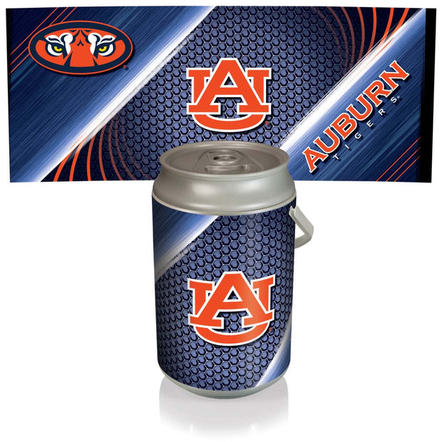 Auburn Tigers Mega Can Cooler with Ball Leather Graphics