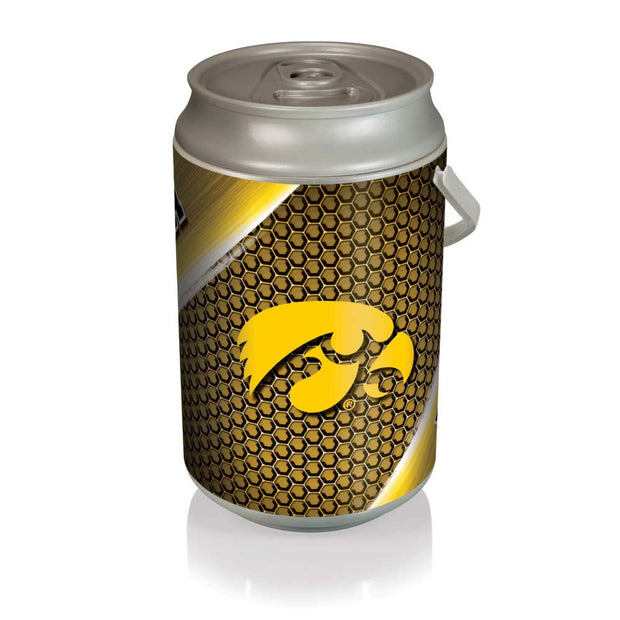 Iowa Hawkeyes Mega Can Cooler with Ball Leather Graphics
