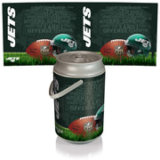New York Jets Mega Can Cooler with Ball Leather Graphics