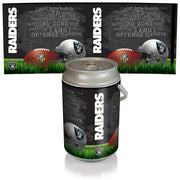 Oakland Raiders Mega Can Cooler with Ball Leather Graphics