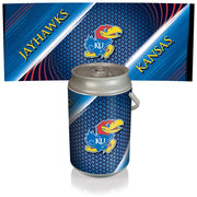 Kansas Jayhawks Mega Can Cooler with Ball Leather Graphics - Team Sports Gift
