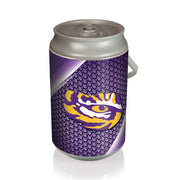 LSU Tigers Mega Can Cooler with Ball Leather Graphics - Team Sports Gift