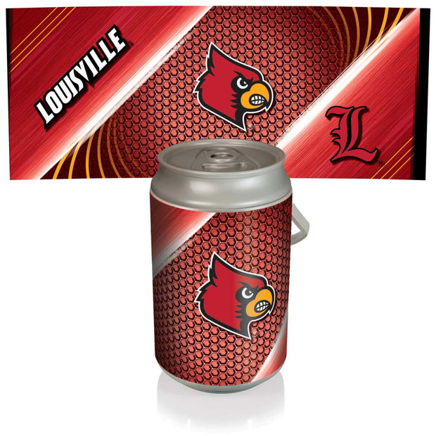 Louisville Cardinals Mega Can Cooler with Ball Leather Graphics
