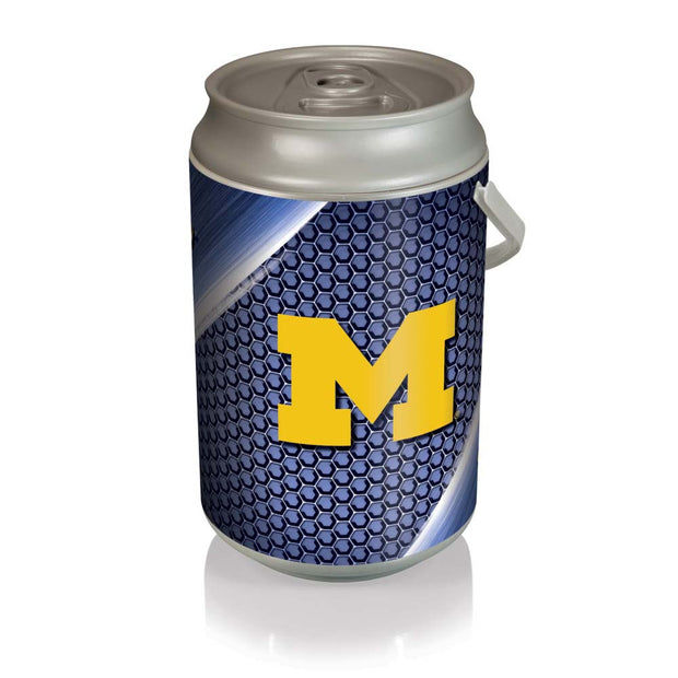 Michigan Wolverines Mega Can Cooler with Ball Leather Graphics