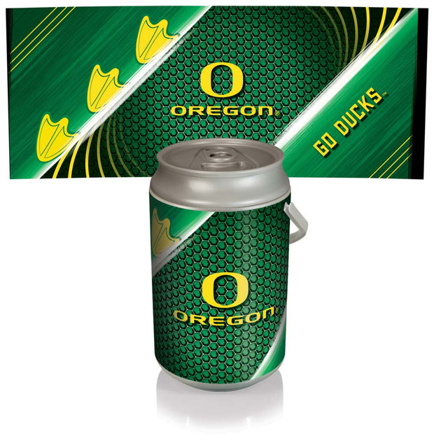 Oregon Ducks Mega Can Cooler with Ball Leather Graphics